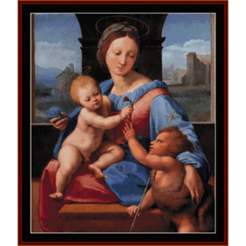 garvagh madonna - raphael cross stitch pattern by cross stitch collectibles