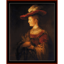 saskia - rembrandt cross stitch pattern by cross stitch collectibles