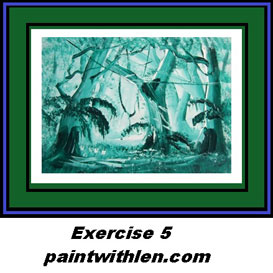 5 paint a forest