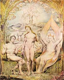 The Archangel Raphael with Adam and Eve by William Blake royalty free stock art | Photos and Images | Fine Art