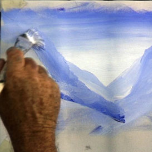 First Additional product image for - 7 Paint blue mountains