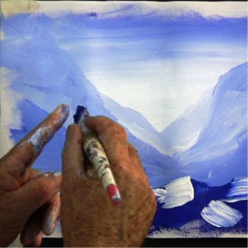 Second Additional product image for - 7 Paint blue mountains
