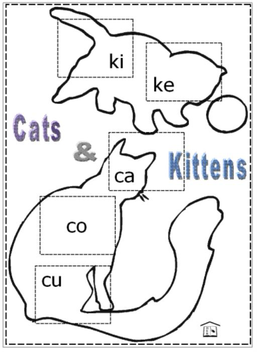 First Additional product image for - Cats & Kittens Game - Spelling with c- and k-