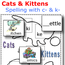 Cats & Kittens Game - Spelling with c- and k- | eBooks | Children's eBooks