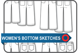 Sketches - Women's Bottoms | Documents and Forms | Templates