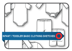 Sketches - Infant/Toddler Basic Clothing | Documents and Forms | Templates
