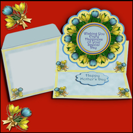 Scalloped Easel card kit with matching envelope in Blue | Crafting | Paper Crafting | Other