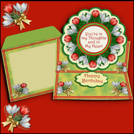 Scalloped Easel card kit with matching envelope in Red | Crafting | Paper Crafting | Other
