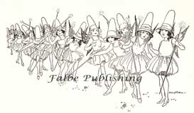 Vintage illustrations of Fairies on parade - high res jpeg | Photos and Images | Vintage
