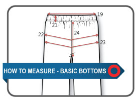How to Measure Guide - Basic Bottoms | Documents and Forms | Templates