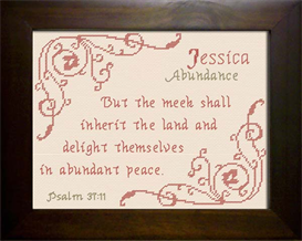 Name Blessings -  Jessica 4 | Crafting | Cross-Stitch | Religious
