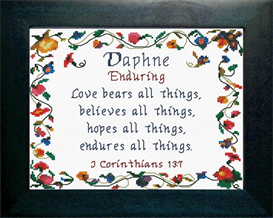 Name Blessings -  Daphne | Crafting | Cross-Stitch | Other