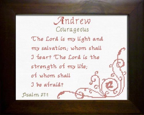 First Additional product image for - Name Blessings -  Andrew 4