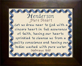 Name Blessings -  Henderson 2 | Crafting | Cross-Stitch | Religious
