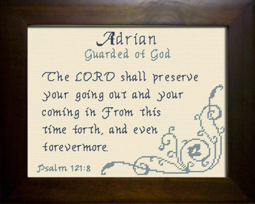 First Additional product image for - Name Blessings -  Adrian 2
