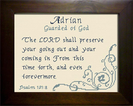 Name Blessings -  Adrian 2 | Crafting | Cross-Stitch | Religious