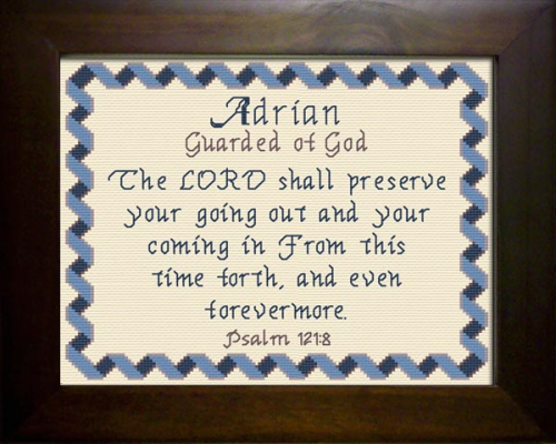 First Additional product image for - Name Blessings -  Adrian 3