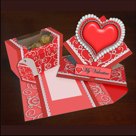 Spring Card, Envelope and Gift box Set in Red | Crafting | Paper Crafting | Cards