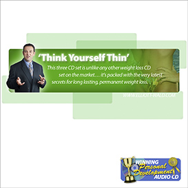 Elliott Wald - Think Yourself Thin Hypnosis MP3 | Audio Books | Self-help