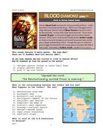 BLOOD DIAMOND, Whole-Movie English (ESL) Lesson | eBooks | Education