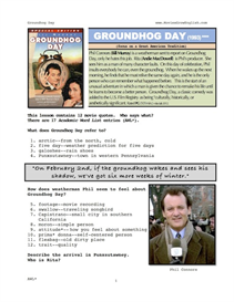 GROUNDHOG DAY, Whole-Movie English (ESL) Lesson | eBooks | Education