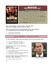 THE ROCK, Whole-Movie English (ESL) Lesson | eBooks | Education