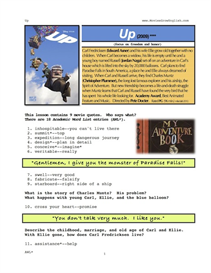 up, whole-movie english (esl) lesson