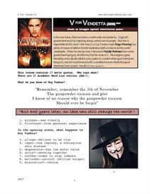 V FOR VENDETTA, Whole-Movie English (ESL) Lesson | eBooks | Education
