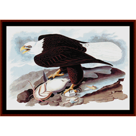 American Bald Eagle -Wildlife cross stitch pattern by Cross Stitch Collectibles | Crafting | Cross-Stitch | Wall Hangings