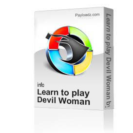 learn to play devil woman by marty robbins