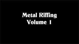 Metal Riffing Volume One | Movies and Videos | Educational
