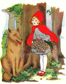 Little Red Riding Hood and wolf vintage illustration - high resolution jpeg | Photos and Images | Vintage