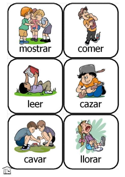 First Additional product image for - Spanish Action Kids - Verbs Cards