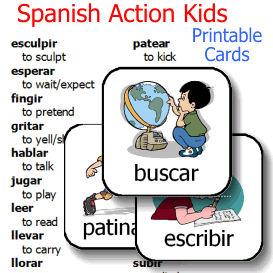 Spanish Action Kids - Verbs Cards | eBooks | Education