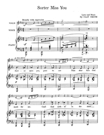 Sorter Miss You Sheet Music | Music | Miscellaneous