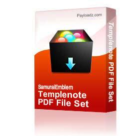 templenote pdf file set