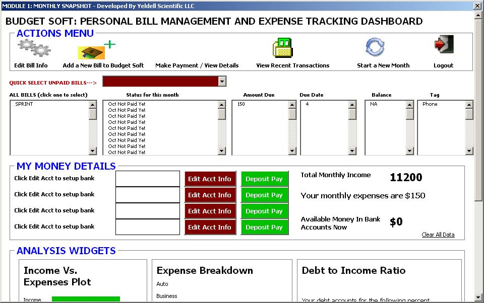 personal expense tracking spreadsheet