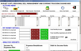 Budget Soft (Personal Bill Mgt and Expense Tracking Dashboard) | Documents and Forms | Spreadsheets