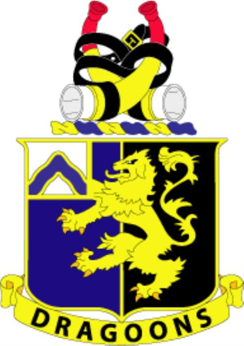 First Additional product image for - 48th Infantry Regiment Dragoons - Crest EPS File [1031]