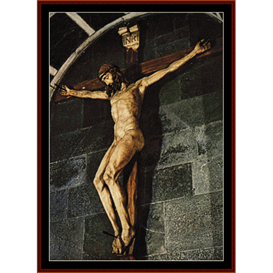 crucifix - brunellesch cross stitch pattern by cross stitch collectibles
