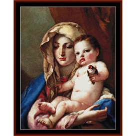 Madonna of the goldfinch - Tiepolo cross stitch pattern by Cross Stitch Collectibles | Crafting | Cross-Stitch | Wall Hangings