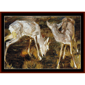 Deer at Dusk - Franz Marc cross stitch pattern by Cross Stitch Collectibles | Crafting | Cross-Stitch | Wall Hangings