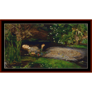 Death of Ophelia - Millais cross stitch pattern by Cross Stitch Collectibles | Crafting | Cross-Stitch | Wall Hangings