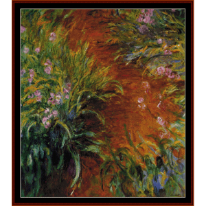 Path Through the Irises, Postersize - Monet cross stitch pattern by Cross Stitch Collectibles | Crafting | Cross-Stitch | Other