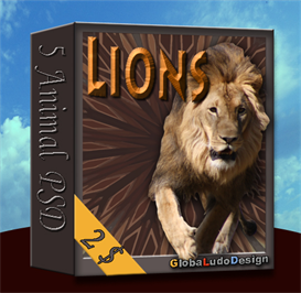 Lion PSD | Other Files | Photography and Images