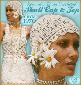 Retro Crochet SKULL Cap & TUNIC Flapper Cloche Hat | Crafting | Sewing | Other