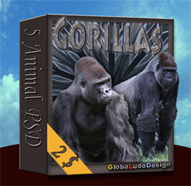 Gorilla PSD pack | Other Files | Photography and Images