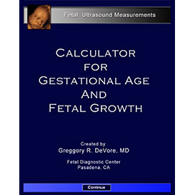 Calculator for Gestational Age and Fetal Growth (Windows) | Software | Training