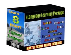 elanguage learning pack - 8 languages