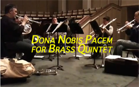 Dona Nobis Pacem for Brass Quintet - Moderate | Music | Classical